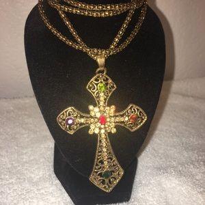Jewelry - Large cross pendant necklace